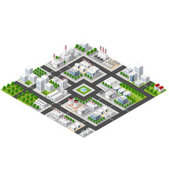 isometric plant in 3d dimensiona vector image