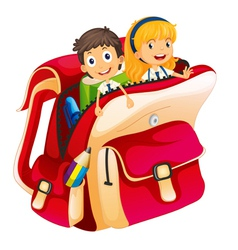 kids in a bag vector image