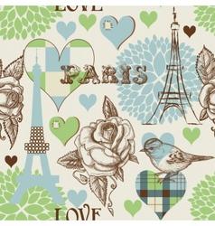 paris seamless pattern vector image