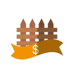 Real estate fence price dollar shadow vector