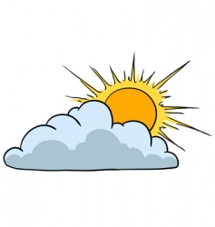 sunny with cloud vector image
