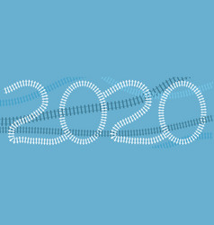 2020 new year card vector image