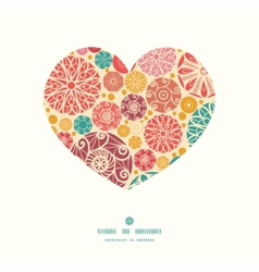 Abstract decorative circles heart silhouette vector