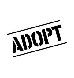 Adopt black stamp vector