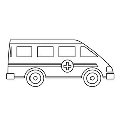 Ambulance emergency paramedic car icon vector