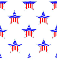 american patriotic seamless pattern with the stars vector image