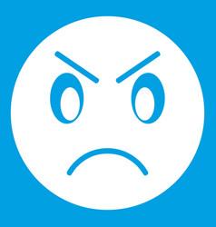 Annoyed emoticon white vector