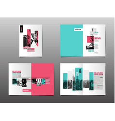 Annual report template layout design cover book vector