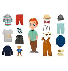 baby boy fashion icon set vector image