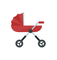 Baby pram carriage icon flat style vector