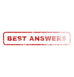 Best answers rubber stamp vector