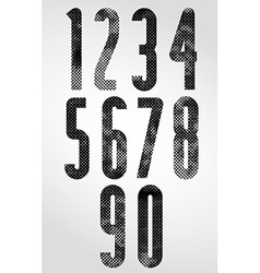 Black and white dotty graphic narrow numbers vector