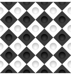 Black and white grid with round holes vector image