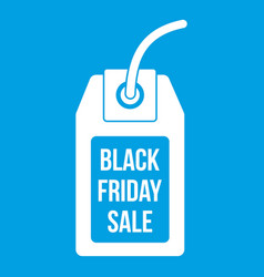 black friday sale tag icon white vector image