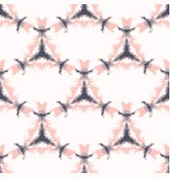 Bold shibori tie dye cross triangle background vector