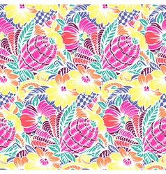 Bright seamless pattern with flowers pattern vector