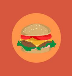 burger menu of a burger vector image