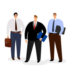 businessmen icon set isolated on white vector image