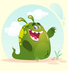 cartoon happy monster alien vector image
