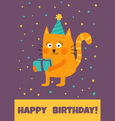 cat card vector image