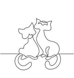 cat silhouette logo vector image