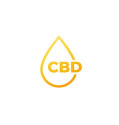 cbd oil drop icon on white vector image