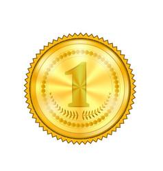 champion award gold medal icon vector image