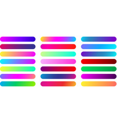 color web button templates isolated on white vector image