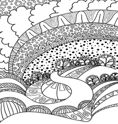 Coloring Book Adult Vector