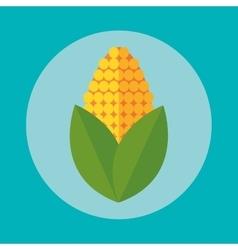Corn inside circle design vector