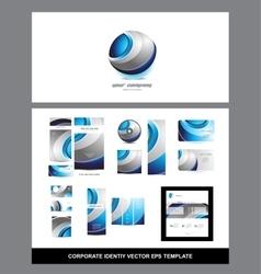 Corporate identity logo vector