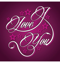 Creative I Love You greeting vector image