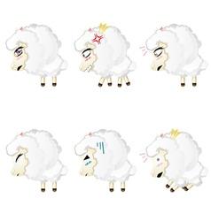 Cute Chibi Sheep vector