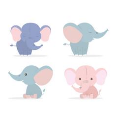 Cute elephants cartoons design vector