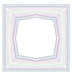 Decorative square frame vector image