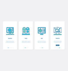 digital marketing line technology ux ui vector image