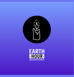 Earth hour movement vector