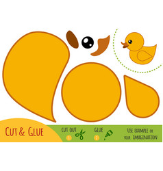 education paper game for children duck vector image