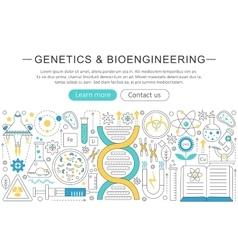 elegant thin flat line genetics vector image