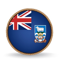 Falkland Islands Seal vector image