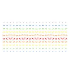 fireworks explosion shape halftone spectral array vector image
