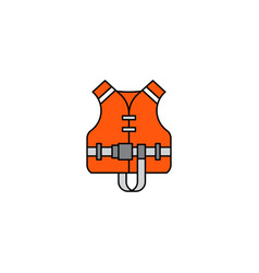 Flat icon life jacket vector
