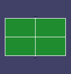flat pin pong table top view field with line vector image