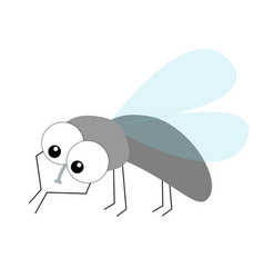 Fly flying insect icon housefly cleaning vector