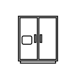 fridge icon vector image