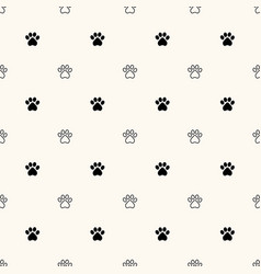 geometrical seamless pattern with animal paw vector image