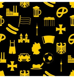 Germany country theme symbols seamless pattern vector
