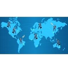 Global business relations concept vector