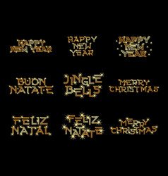 gold natal and happy new year vector image