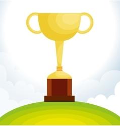 Golf club championship trophy vector